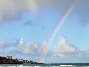 La Jolla seems to be the prize at the end of this rainbow, instead of a pot of gold. Photo by Judith Lea Garfield